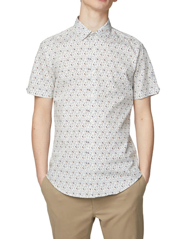 Short-Sleeve Digi Print Shirt - Snow White