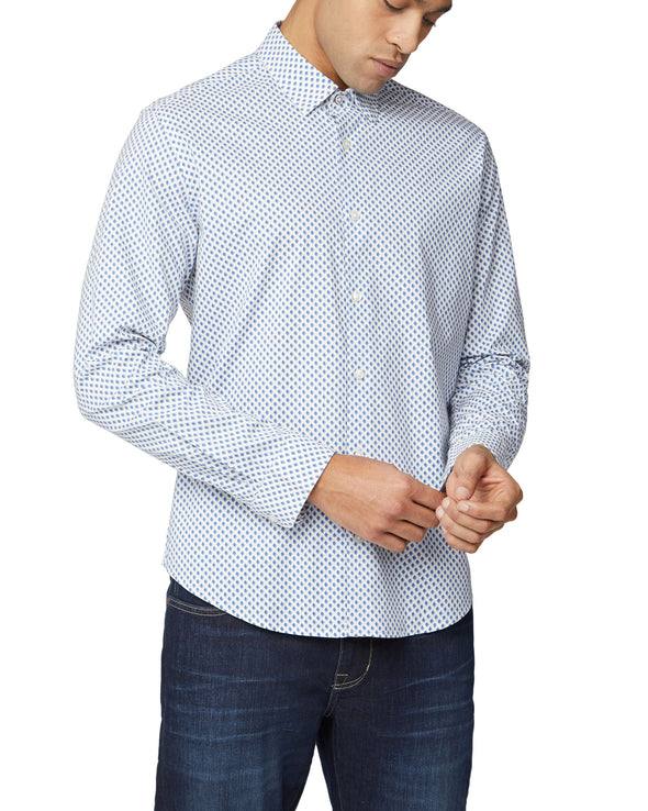 Long-Sleeve One Print Shirt - Blue