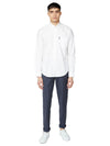 Long-Sleeve Signature Oxford Shirt - White