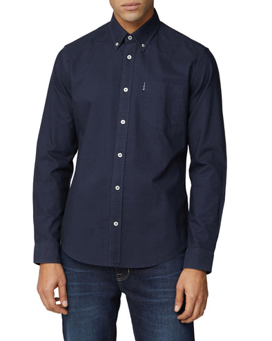 Long-Sleeve Signature Oxford Shirt - Dark Navy