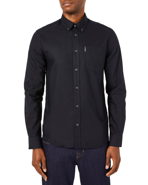 Long-Sleeve Signature Oxford Shirt - Black