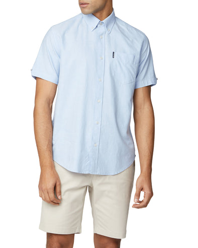 Short-Sleeve Signature Oxford Shirt - Sky