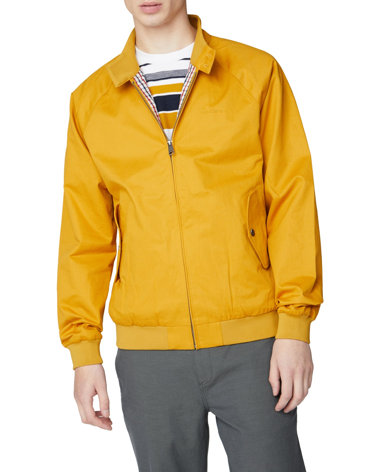 Signature Harrington Jacket - Ochre