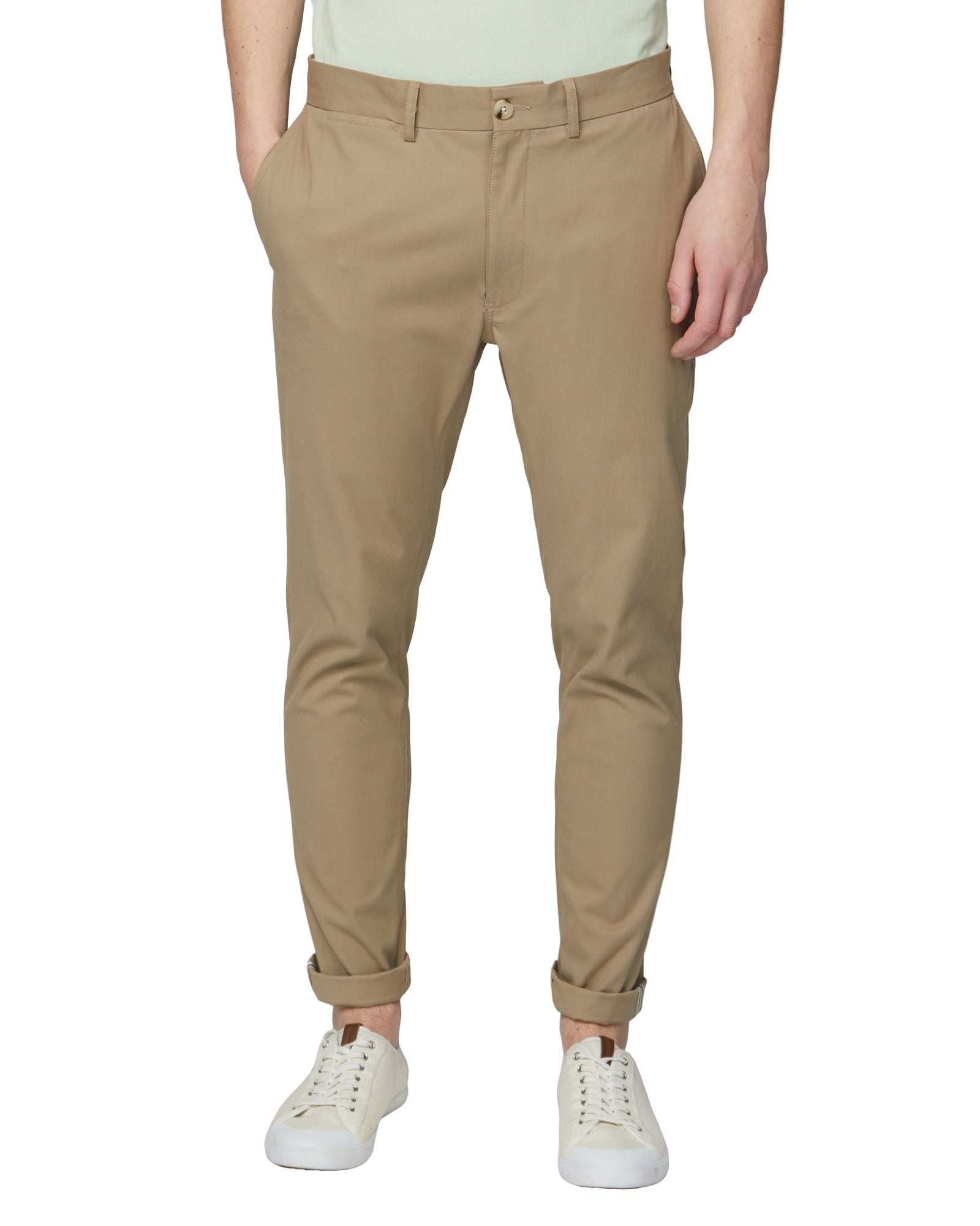 Signature Slim Stretch Chino Pant - Stone