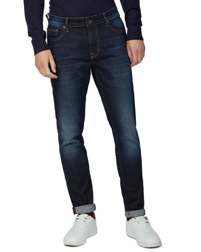 Slim Taper Vintage Wash Jeans - Denim