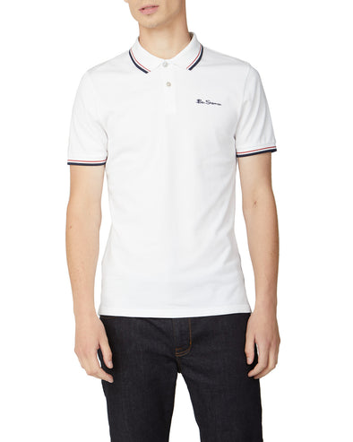 Organic Cotton Signature Polo - White