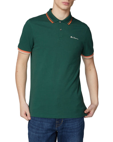 Organic Cotton Signature Polo Shirt - Trekking Green