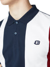 Blocked Stripe Polo Shirt - Dark Navy
