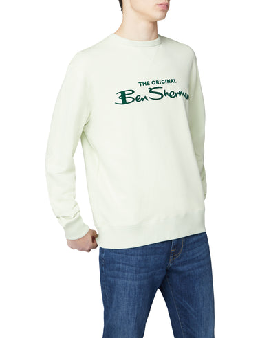 Signature Logo Sweatshirt - Light Green