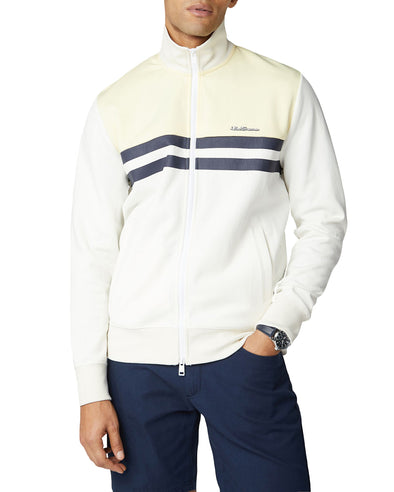 Color Block Tricot Jacket - Ivory