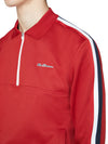 Mod Tape Tricot Quarter-Zip Pullover - Red