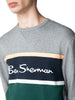 Color Blocked Logo Sweatshirt - Steel