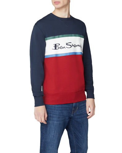 Color Blocked Logo Sweatshirt - Dark Navy