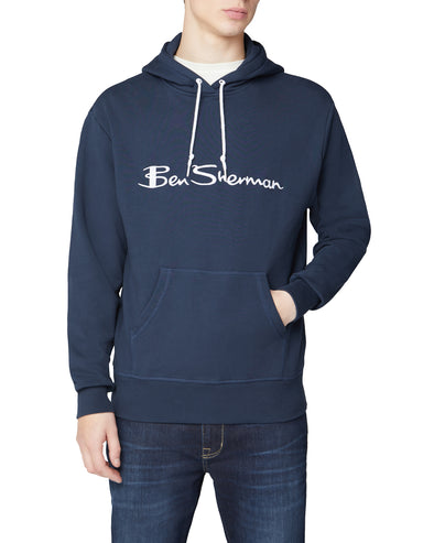 Embroidered Logo Hoodie - Dark Navy