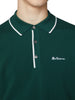 Textured Knit Polo Shirt - Trekking Green
