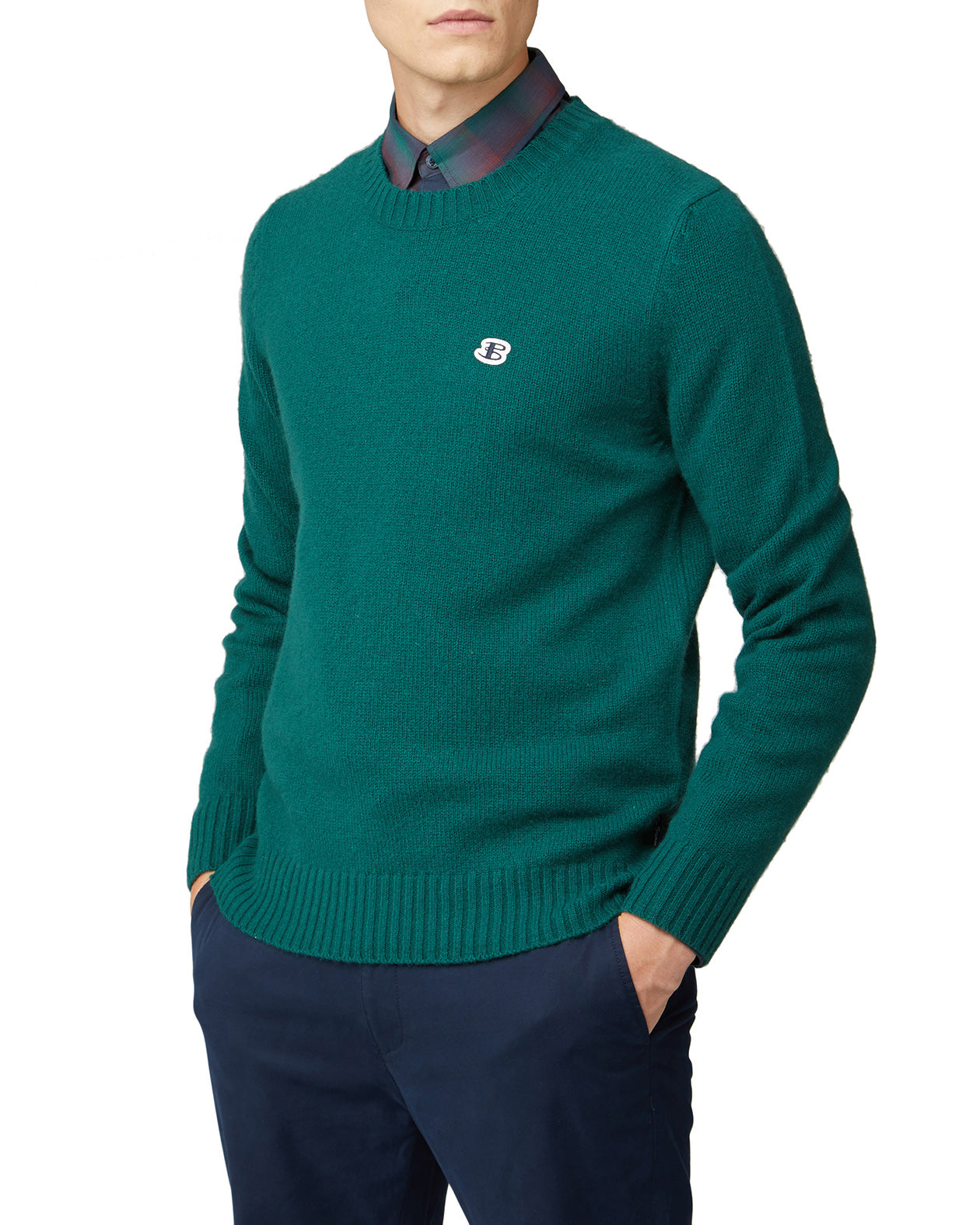 B by Ben Sherman Crewneck Sweater - Forest