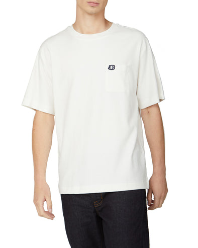 B by Ben Sherman Reverse Loopback Tee - Snow White