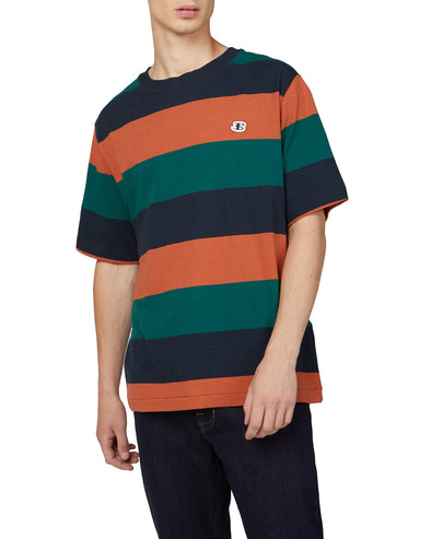 B by Ben Sherman Color Block Logo Tee - Midnight