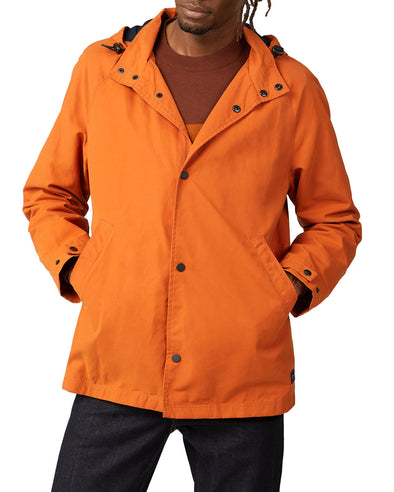 Hooded Coach Jacket - Burnt Orange