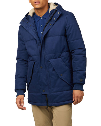 B by Ben Sherman Quilted Mountaineering Jacket - Twilight Denim