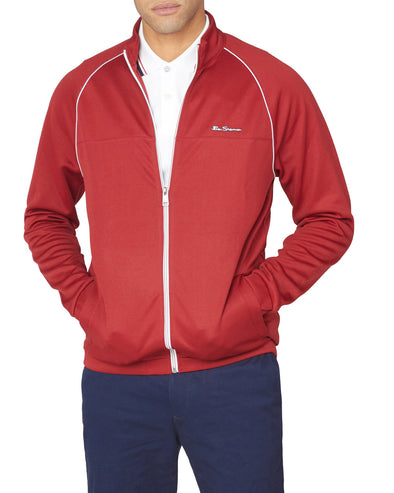 Tricot Zip-Through Track Jacket - Red