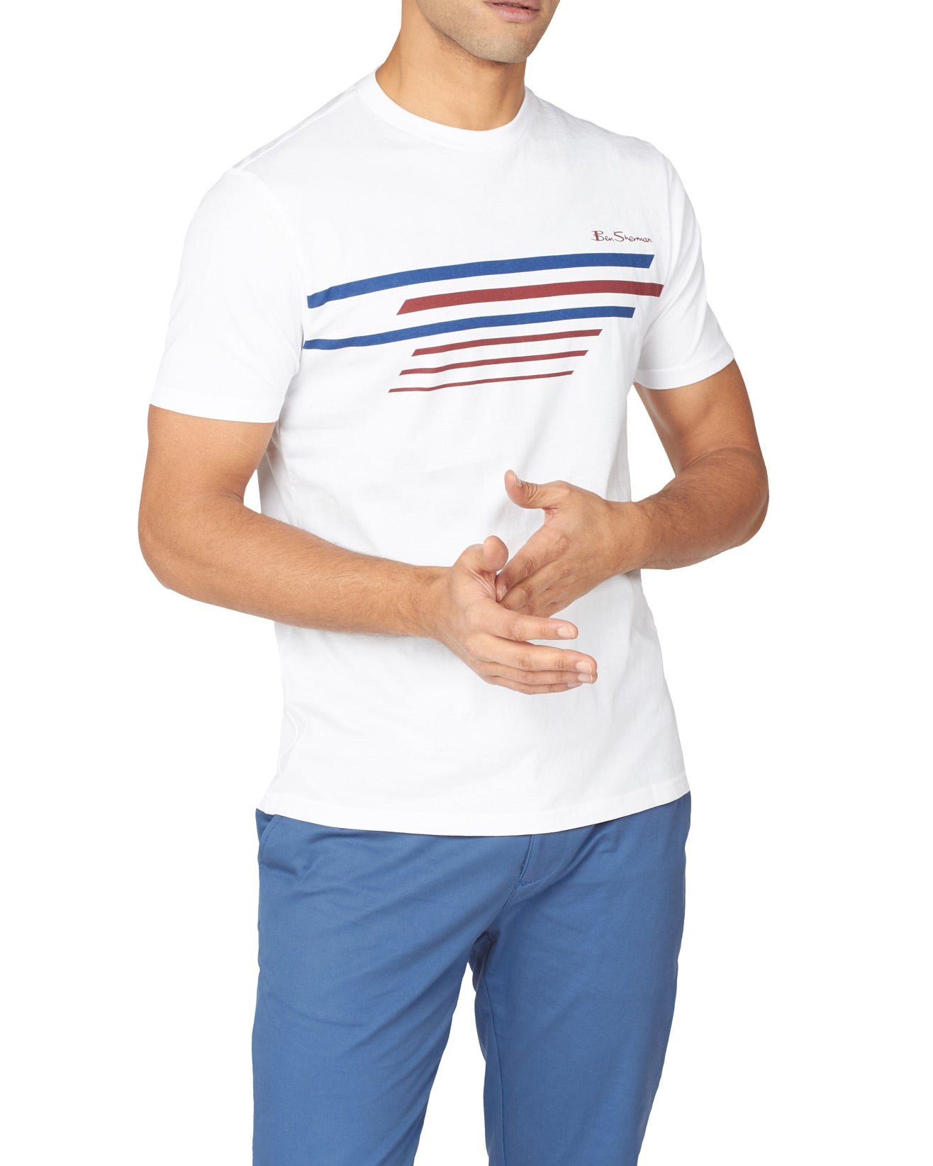 Sport Stripe Graphic Tee - White
