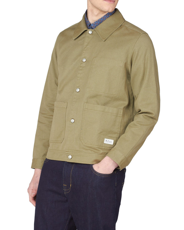 Summer Trucker Jacket - Olive