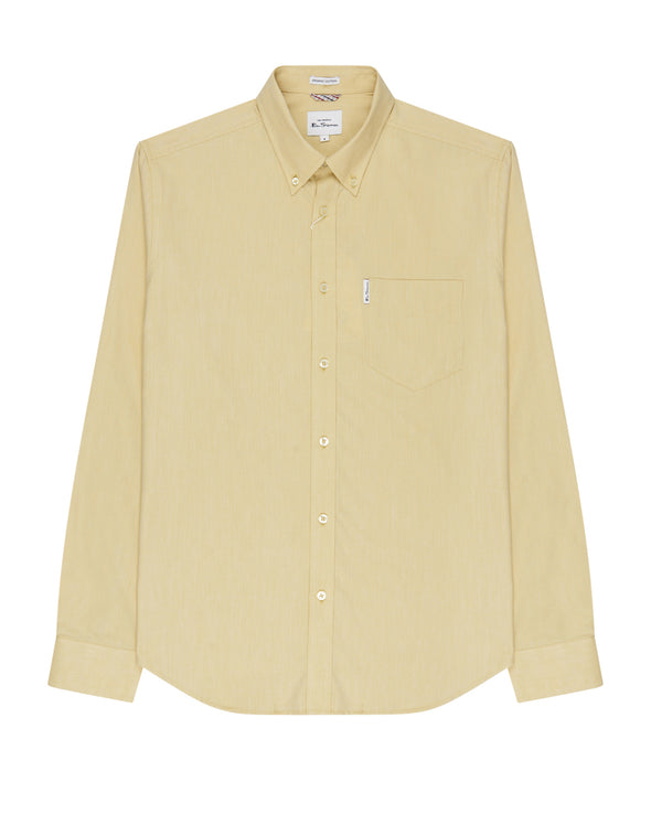 Long-Sleeve Signature Oxford Shirt - Pale Yellow