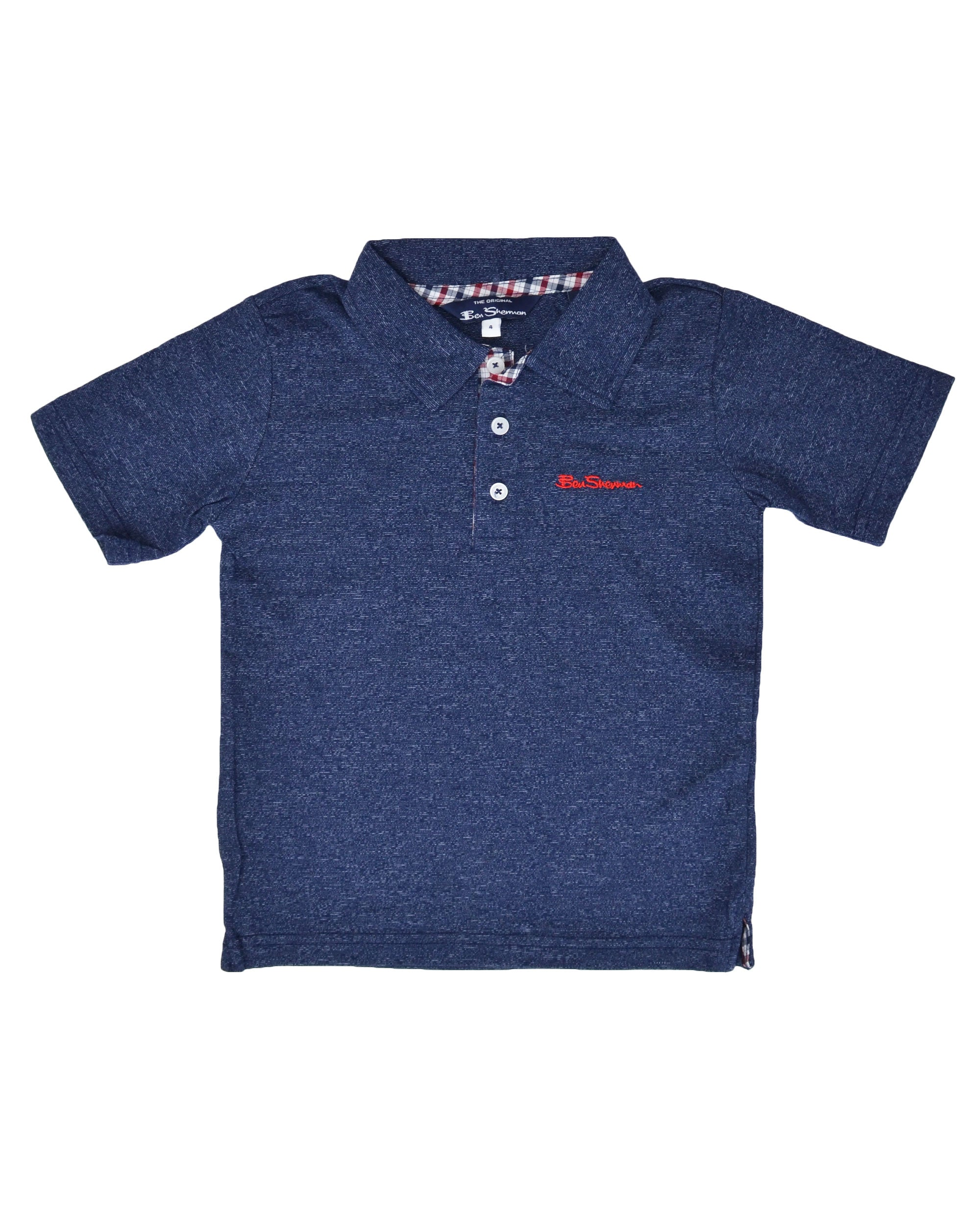 Boys' Short-Sleeve Polo Shirt - Navy (Sizes 4-7)