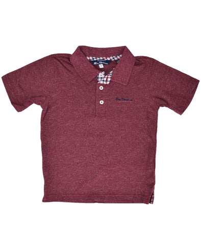 Boys' Short-Sleeve Polo Shirt - Red (Sizes 4-7)