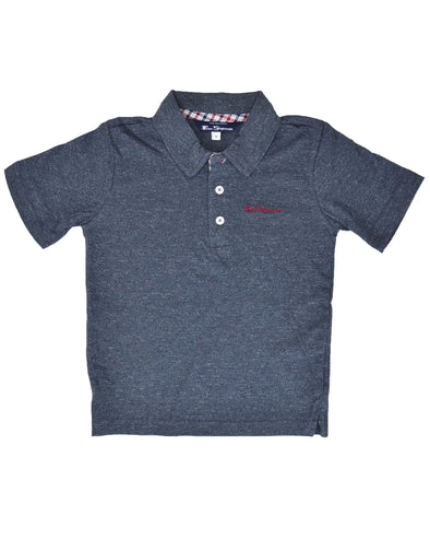 Boys' Short-Sleeve Polo Shirt - Grey (Sizes 4-7)