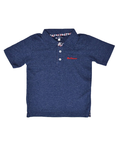 Boys' Short-Sleeve Polo Shirt - Navy (Sizes 8-18)