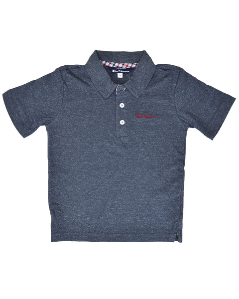 Boys' Short-Sleeve Polo Shirt - Grey (Sizes 8-18)