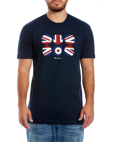 Flag Circles Graphic Tee - Midnight Navy