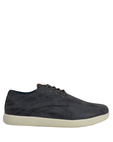 Parnell Distressed Oxford Sneaker - Charcoal
