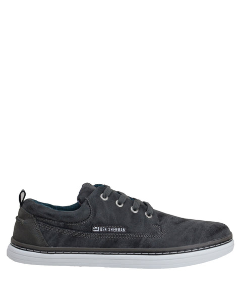 Bulldog Oxford Distressed Sneaker - Dark Grey