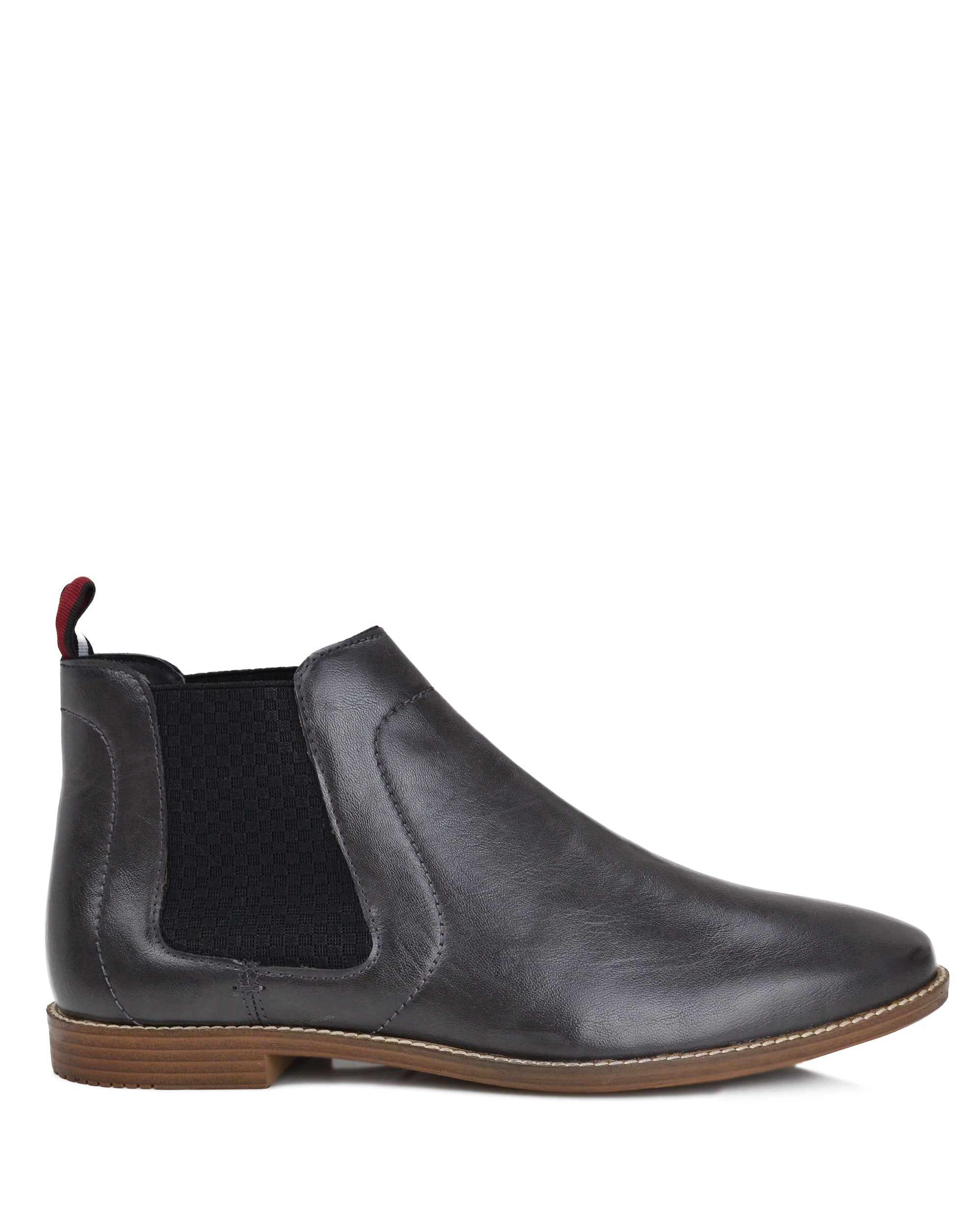 Gaston Chelsea Boot with Elastic Gore - Grey