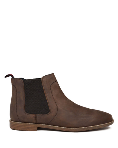Gaston Chelsea Boot with Elastic Gore - Brown