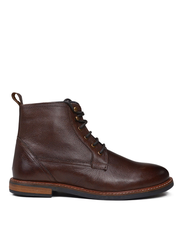 Birk Plain-Toe Leather Lace-up Boot - Brown