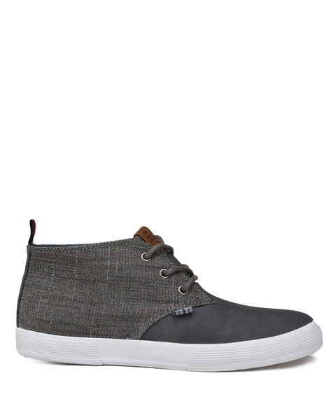 Bradford Denim/Suede Chukka - Grey/White