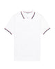 Short-Sleeve Epoch Contrast-Tipped Supima Polo Shirt - Bright White