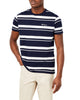 Textured Stripe Crew T-Shirt - Navy Blazer