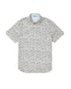 Short-Sleeve Line-Print Shirt - Maritime Blue