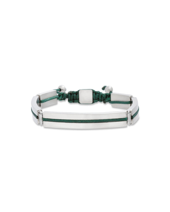 Green  Cord Middle of Bar Bracelet