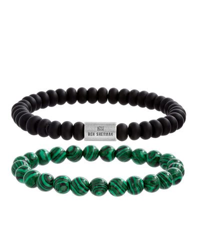 Bar Bead Men's Bracelet Set