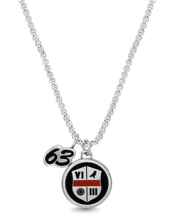 a3518006878f Black   Red Shield w  Roman Numeral Necklace