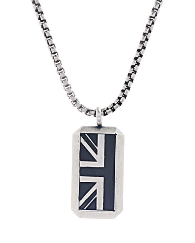Enamel British Flag Necklace