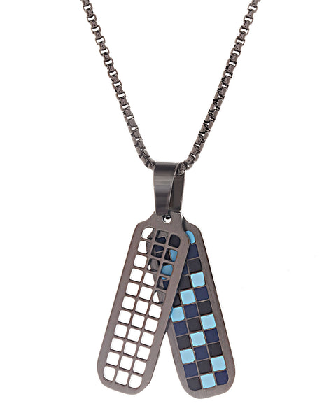 Checkerboard Pendant Necklace