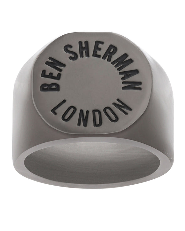 Ben Sherman Engraved Men Ring