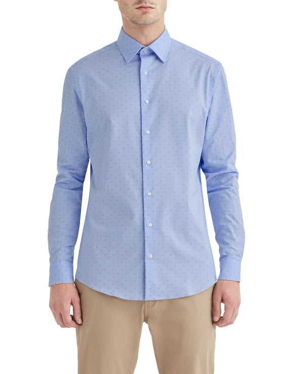 Diamond Dobby Clip-Spot Slim Fit Dress Shirt
